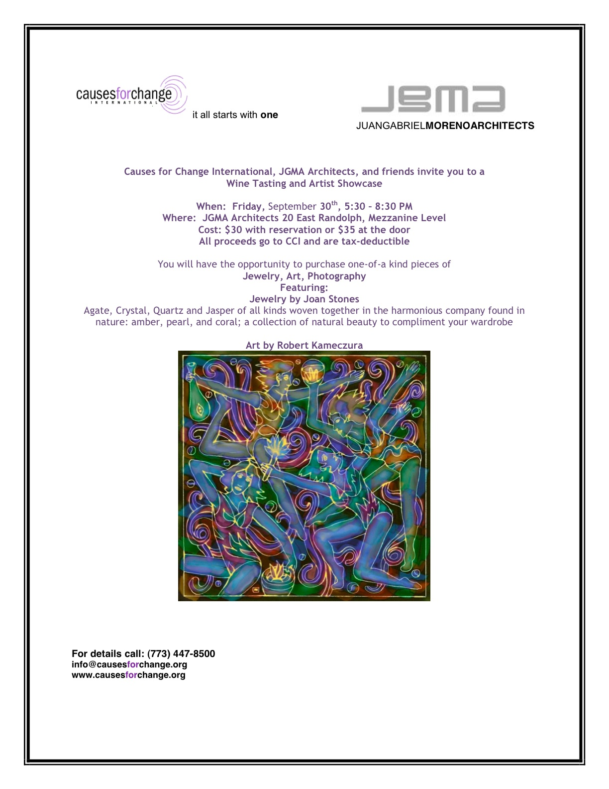 CCI Wine Tasting and Feature Artist