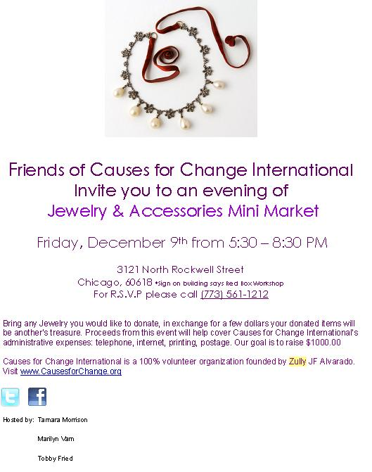 Jewelry Exchange Fundraiser Event | Causes for Change