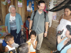 Dr. Cech and Zr. Kovic make a home visit in Balzar, Ecuador