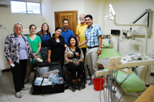 Group with Dr. Ignacio Villon at the dental clinic